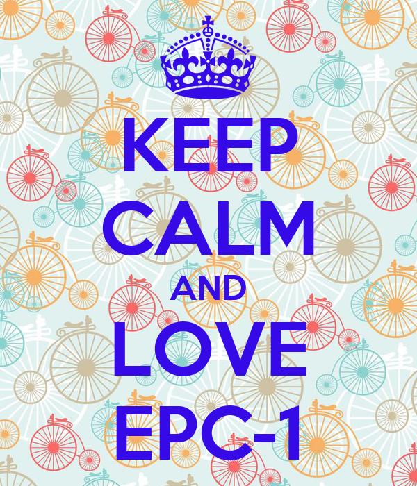 KEEP CALM AND LOVE EPC-1