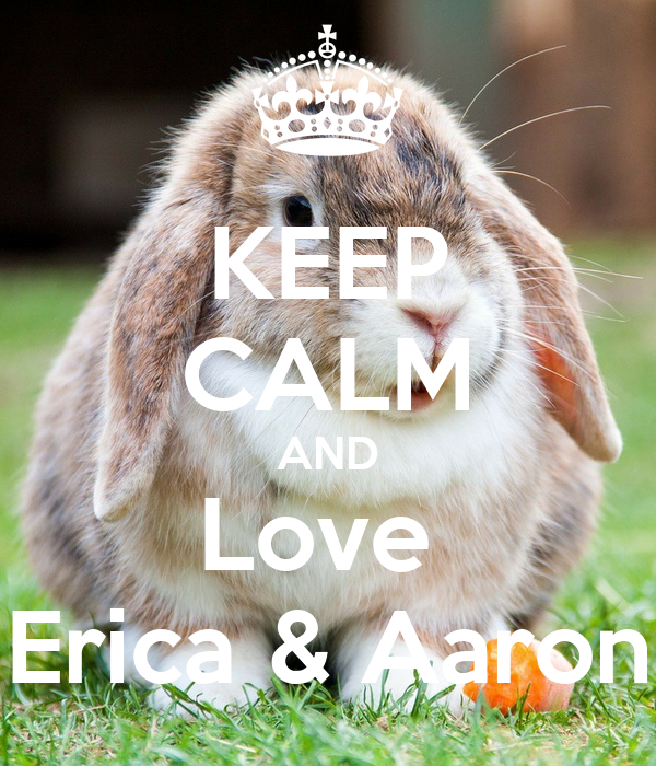 KEEP CALM AND Love  Erica & Aaron