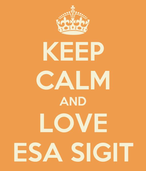 KEEP CALM AND LOVE ESA SIGIT