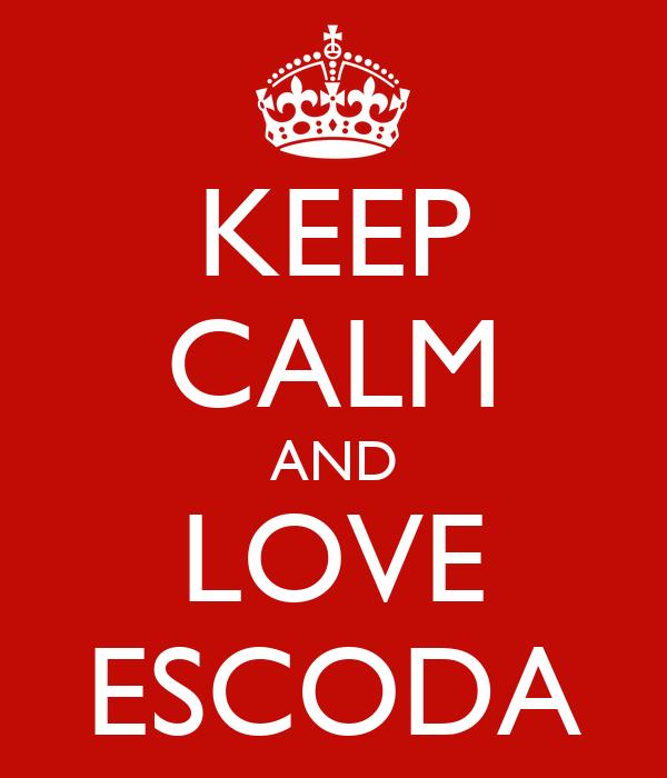 KEEP CALM AND LOVE ESCODA
