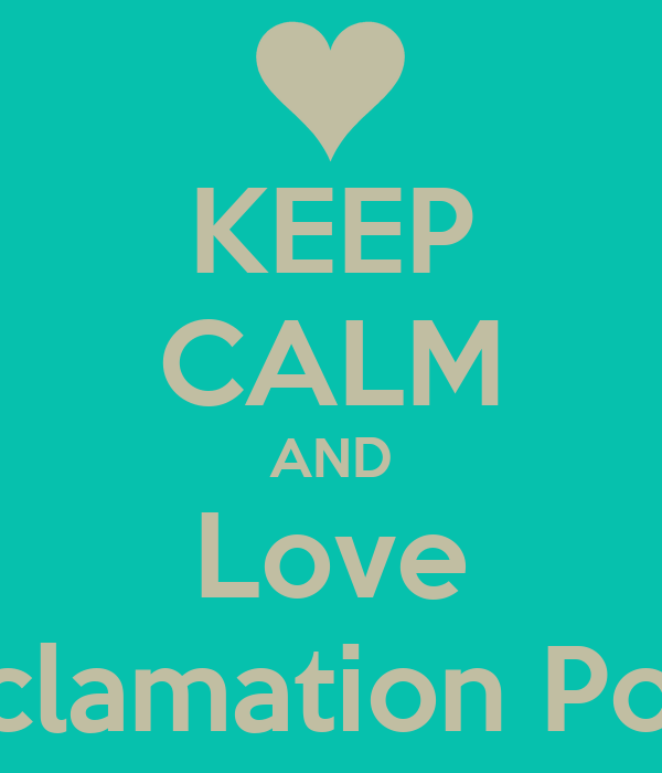KEEP CALM AND Love Exclamation Point