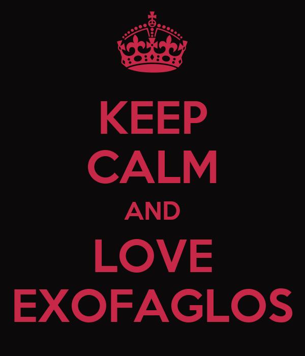 KEEP CALM AND LOVE EXOFAGLOS