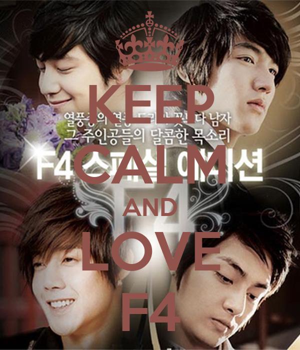 KEEP CALM AND LOVE F4