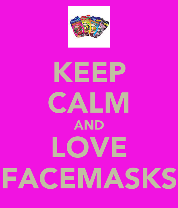 KEEP CALM AND LOVE FACEMASKS