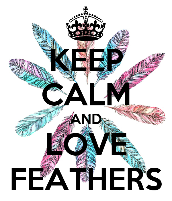 KEEP CALM AND LOVE FEATHERS