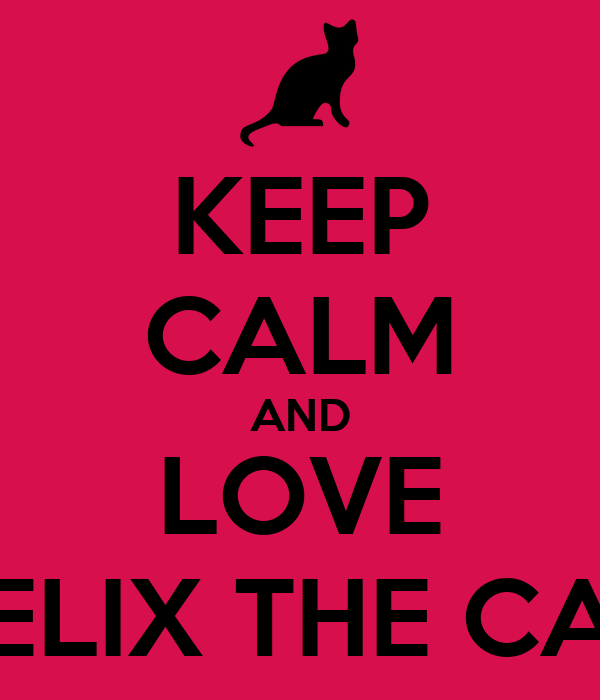 KEEP CALM AND LOVE FELIX THE CAT