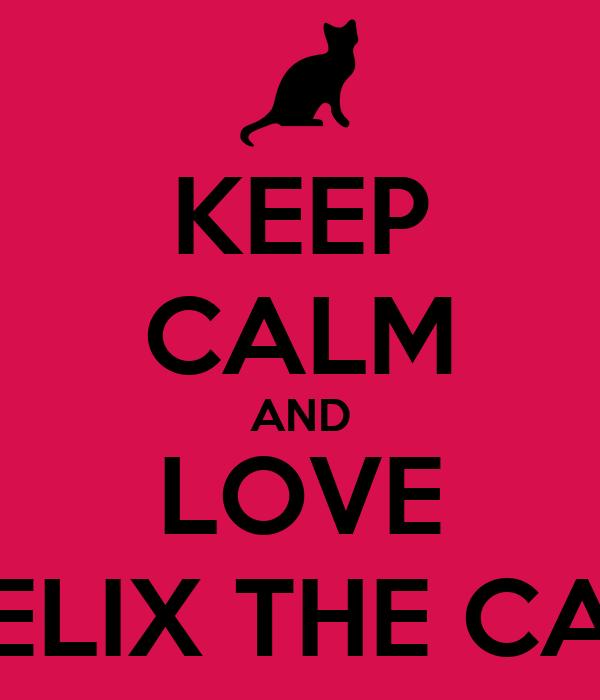 KEEP CALM AND LOVE FELIX THE CAT