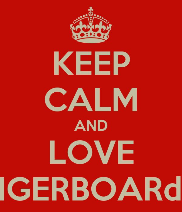 KEEP CALM AND LOVE FINGERBOARding