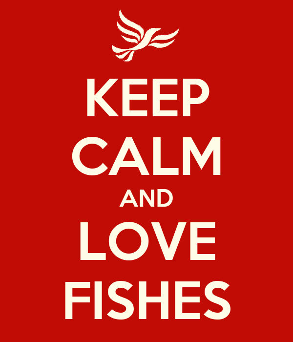 KEEP CALM AND LOVE FISHES