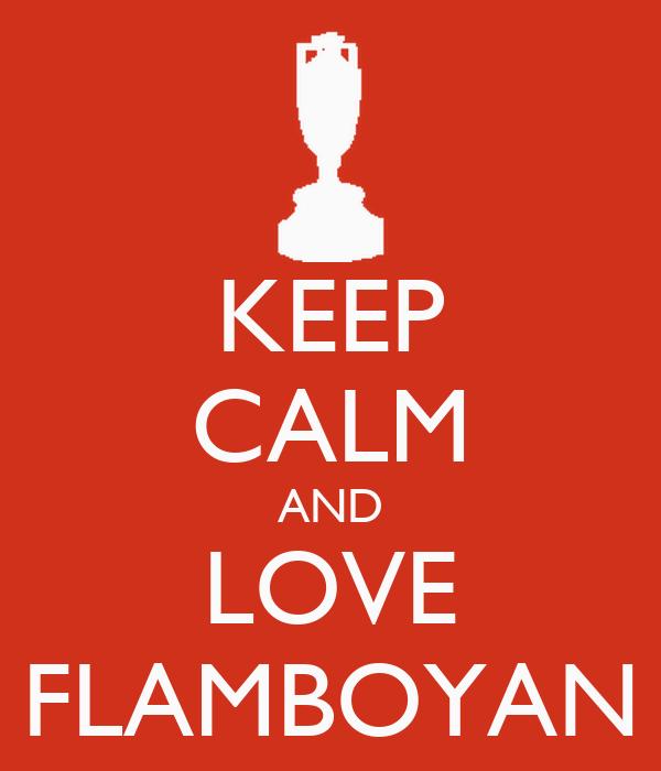 KEEP CALM AND LOVE FLAMBOYAN