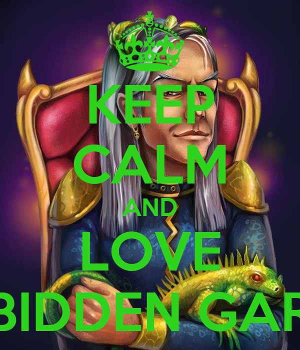 KEEP CALM AND LOVE FORBIDDEN GARDEN Poster | lazy | Keep Calm-o-Matic