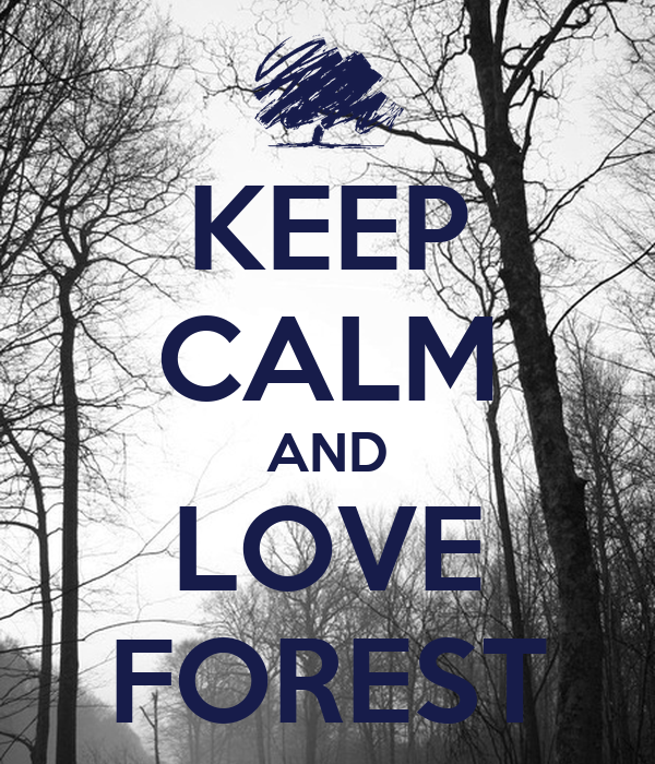 KEEP CALM AND LOVE FOREST