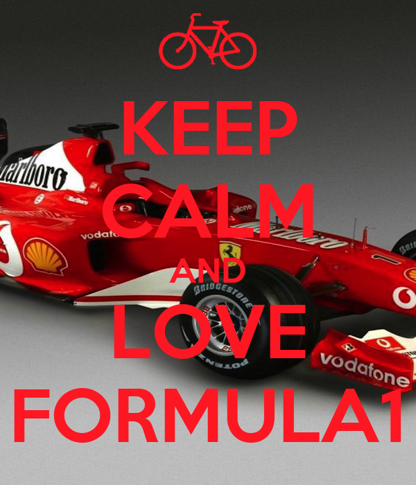 KEEP CALM AND LOVE FORMULA1