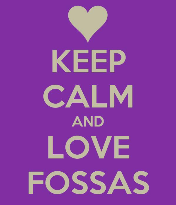 KEEP CALM AND LOVE FOSSAS