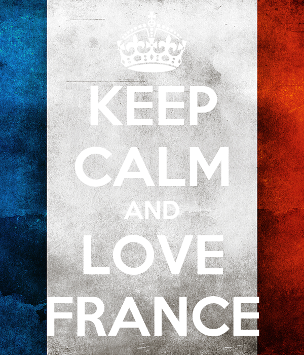 KEEP CALM AND LOVE FRANCE