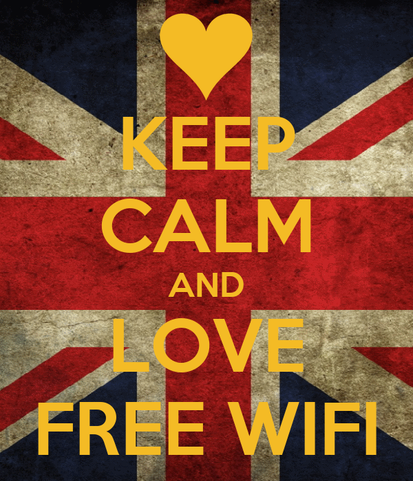 KEEP CALM AND LOVE FREE WIFI