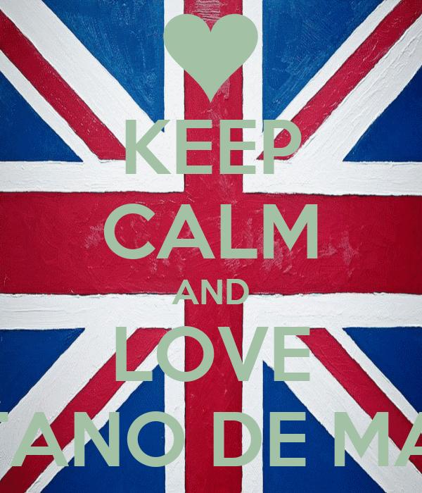 KEEP CALM AND LOVE GAETANO DE MARCO