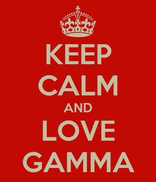 KEEP CALM AND LOVE GAMMA