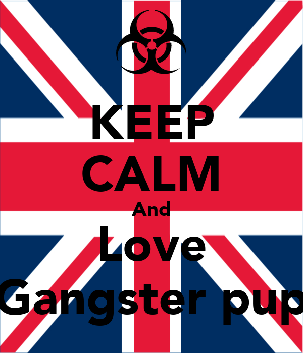 KEEP CALM And Love Gangster pup