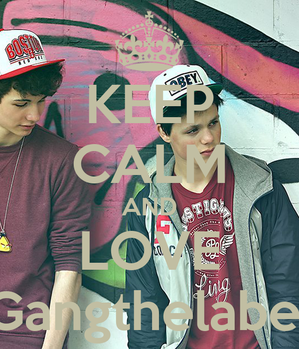 KEEP CALM AND LOVE Gangthelabel