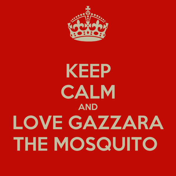 KEEP CALM AND LOVE GAZZARA THE MOSQUITO