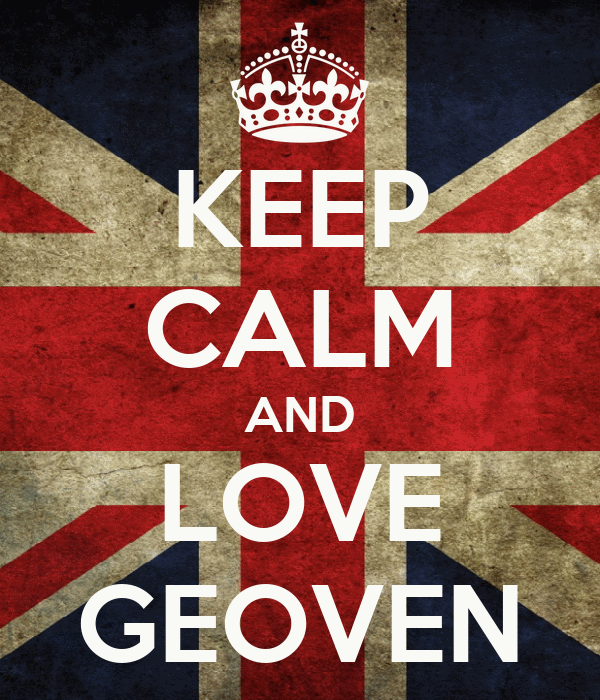 KEEP CALM AND LOVE GEOVEN