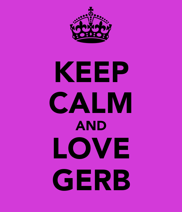 KEEP CALM AND LOVE GERB