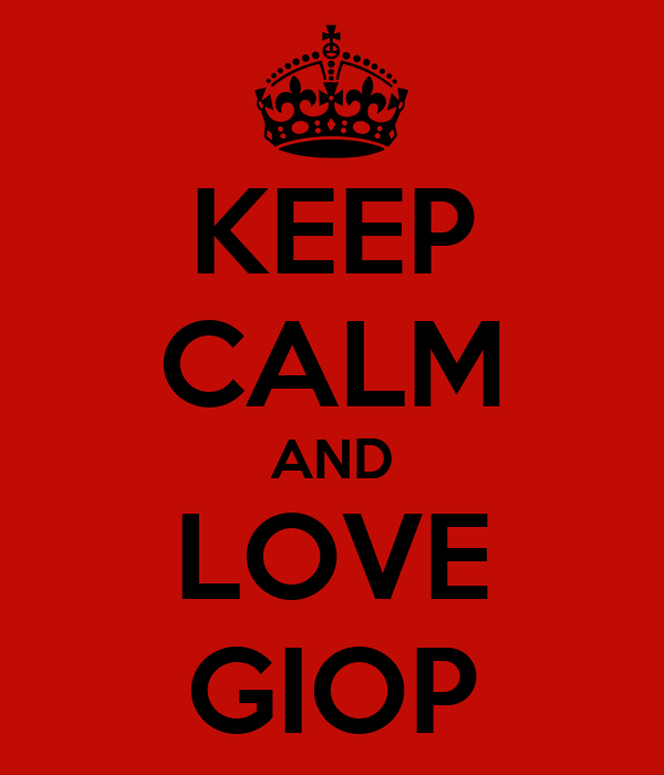KEEP CALM AND LOVE GIOP