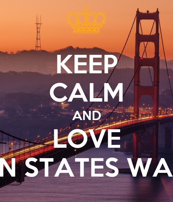 KEEP CALM AND LOVE GOLDEN STATES WARRIORS