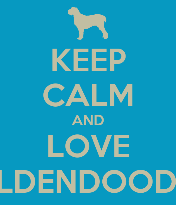 KEEP CALM AND LOVE GOLDENDOODLES