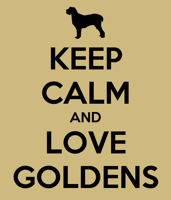 KEEP CALM AND LOVE GOLDENS