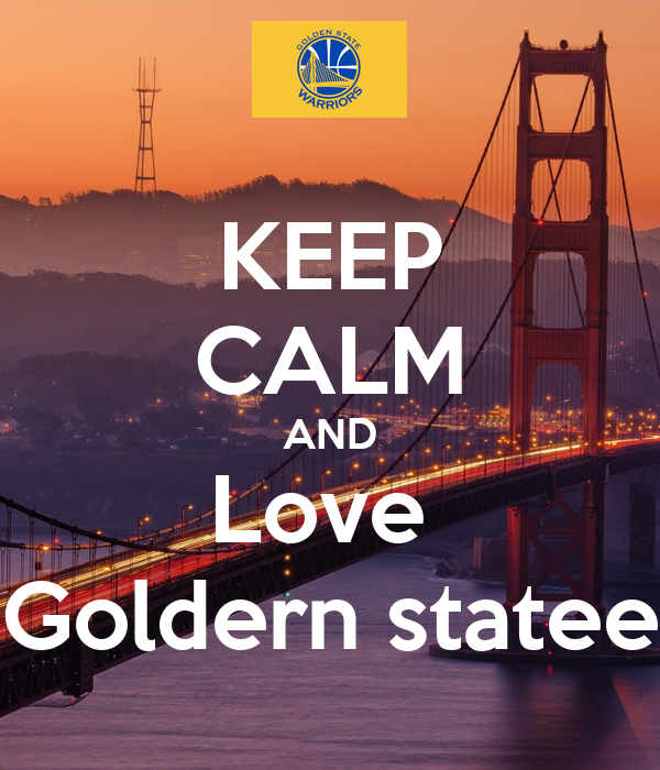 KEEP CALM AND Love  Goldern statee