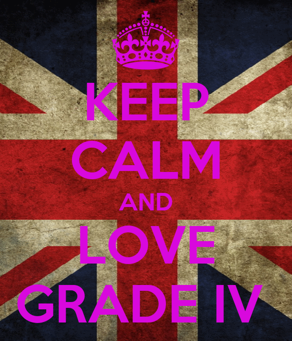 KEEP CALM AND LOVE GRADE IV