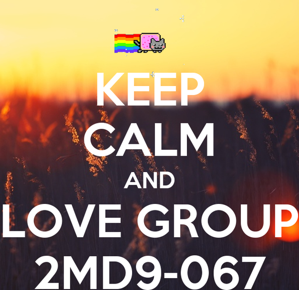 KEEP CALM AND LOVE GROUP 2MD9-067