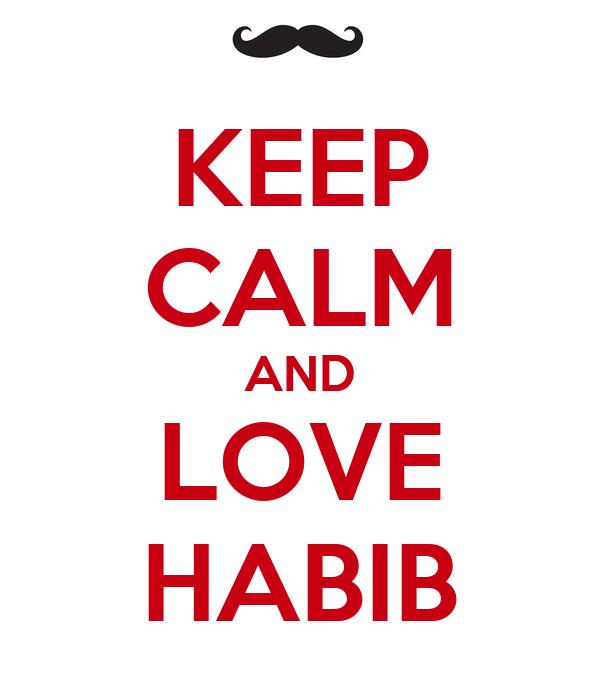 KEEP CALM AND LOVE HABIB