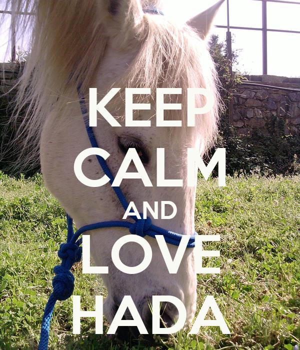 KEEP CALM AND LOVE HADA