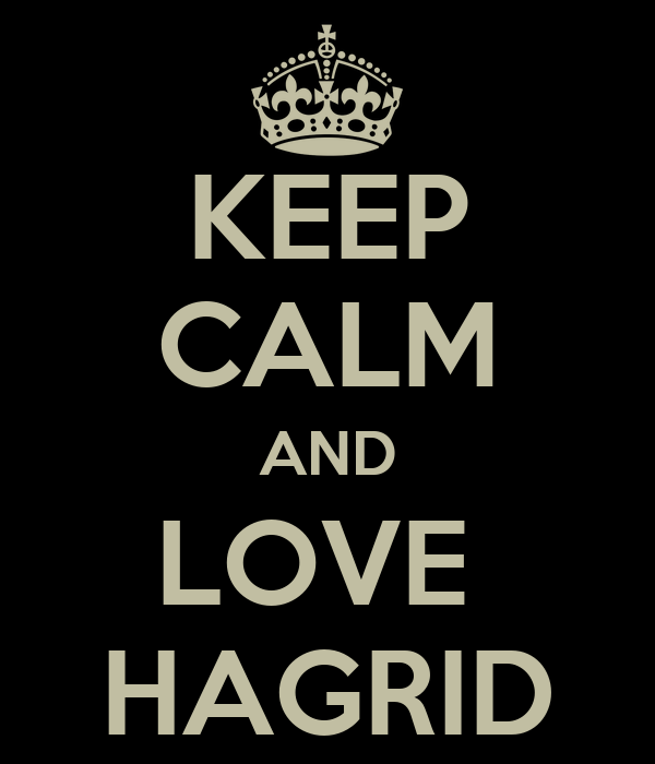 KEEP CALM AND LOVE  HAGRID