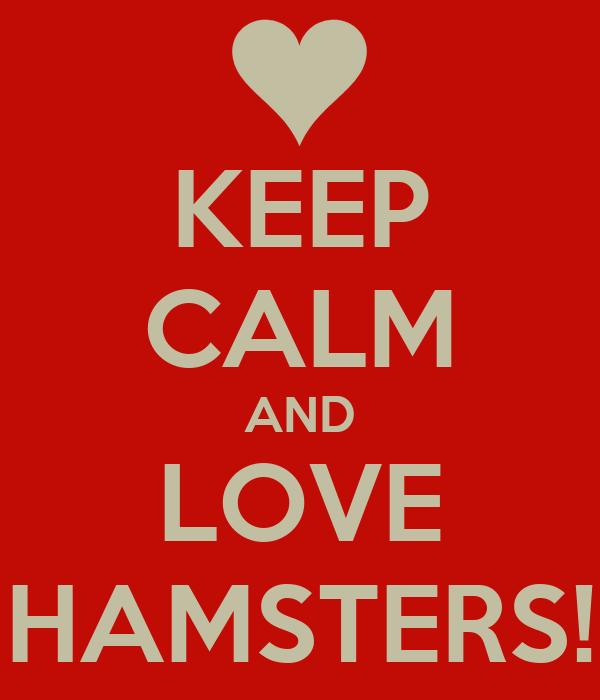 KEEP CALM AND LOVE HAMSTERS!