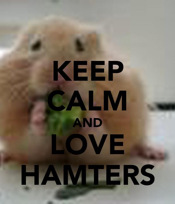 KEEP CALM AND LOVE HAMTERS