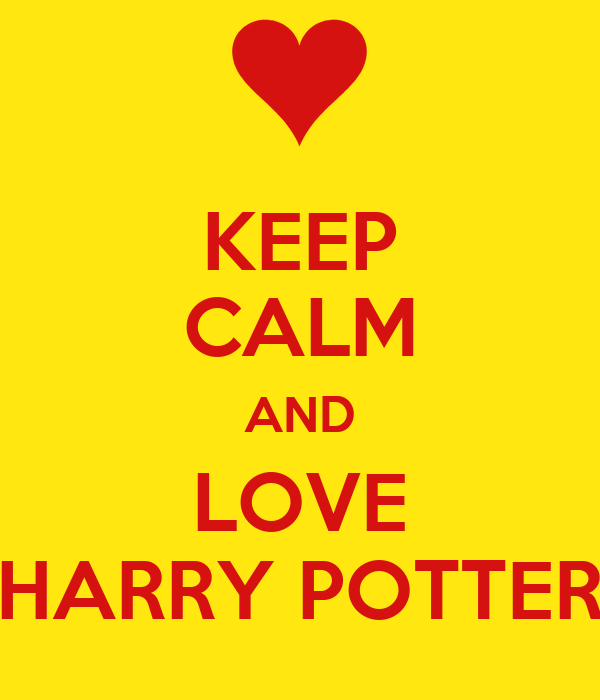 keep calm and love harry potter poster panayottavafia