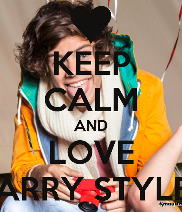 keep calm and love harry styles poster oggesgirlfriend