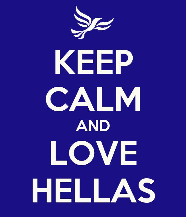 KEEP CALM AND LOVE HELLAS