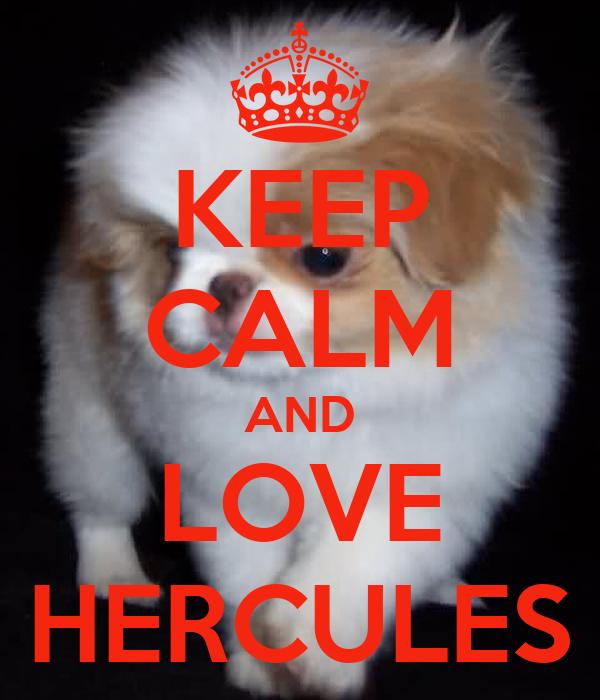 KEEP CALM AND LOVE HERCULES