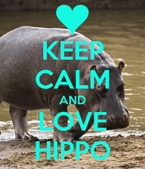 KEEP CALM AND LOVE HIPPO
