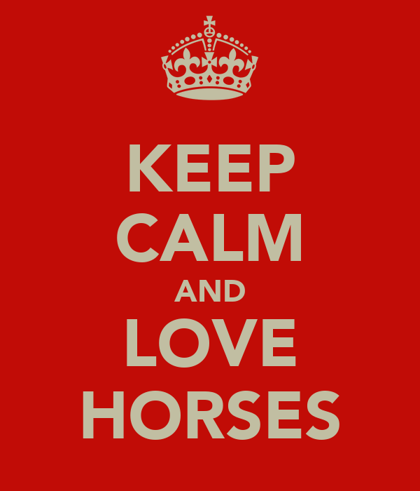 KEEP CALM AND LOVE HORSES