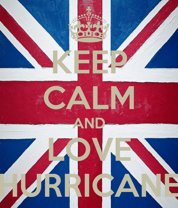 KEEP CALM AND LOVE HURRICANE