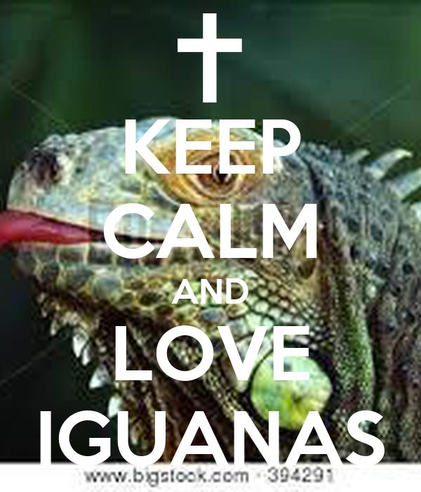 KEEP CALM AND LOVE IGUANAS