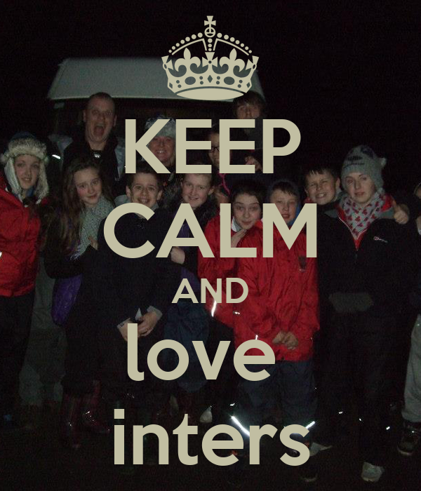 KEEP CALM AND love  inters