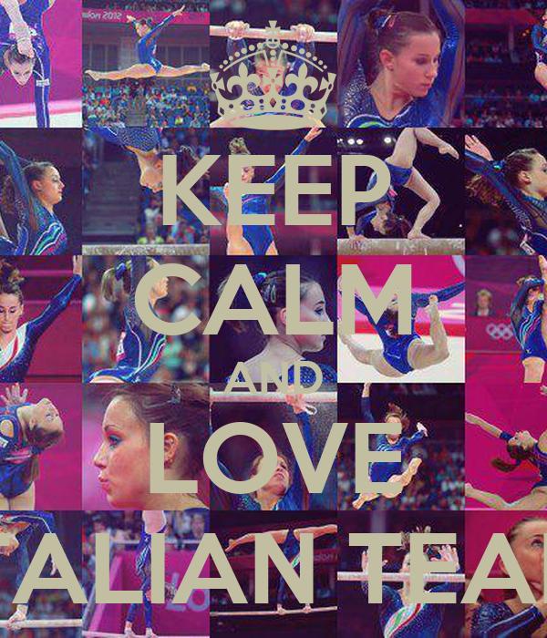 KEEP CALM AND LOVE ITALIAN TEAM