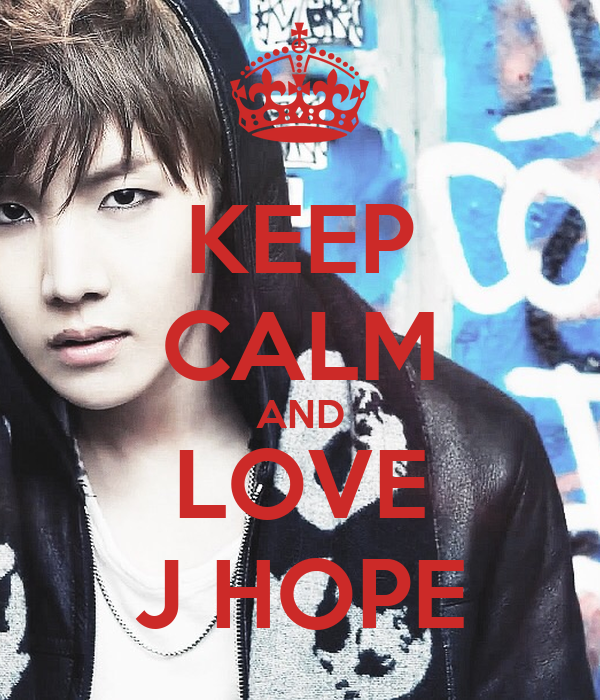 KEEP CALM AND LOVE J HOPE Poster